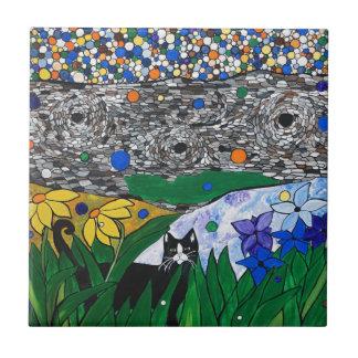 Billy de kat en zijn geheime tuin tegeltje