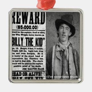 Billy de Kind Gewilde Dode of Levende Giften & de Zilverkleurig Vierkant Ornament