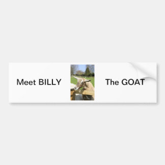 Billy de Sticker van de Bumper van de Geit Bumpersticker