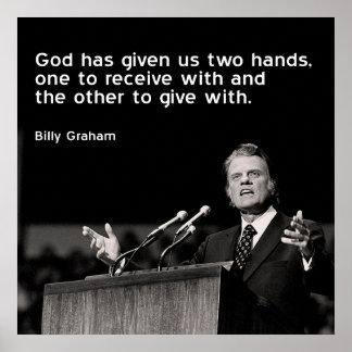 Billy Graham Quote (het Geven) Poster