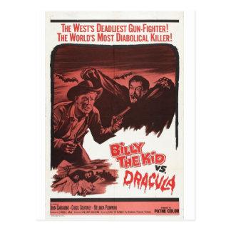Billy het Kind versus Dracula filmbriefkaart Briefkaart