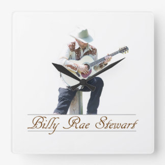 Billy Rae Stewart Wall Clock Vierkante Klok