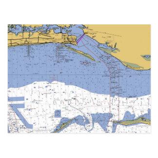 Biloxi, Briefkaart van de Grafiek van de Haven van