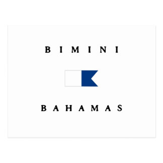 Bimini Alpha- de Bahamas duikt Vlag Briefkaart