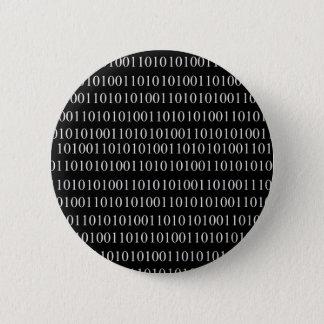 Binaire Code Ronde Button 5,7 Cm