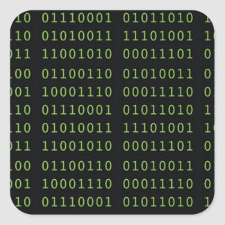 Binaire Code Vierkante Sticker