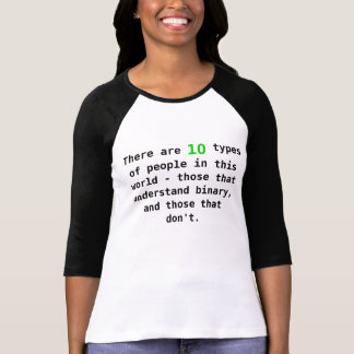 binaire mensen t shirt