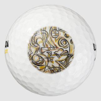 Binnen het labyrint-Hand Geschilderde Abstracte Golfballen