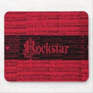 Binnen rojo Rockstar mousepad Muismat