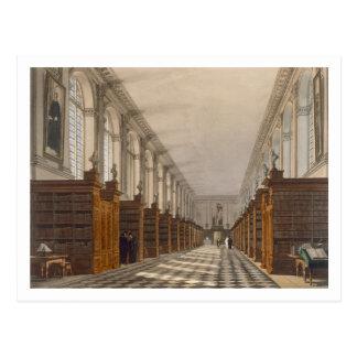 Binnenland van de Bibliotheek van de Universiteit Briefkaart