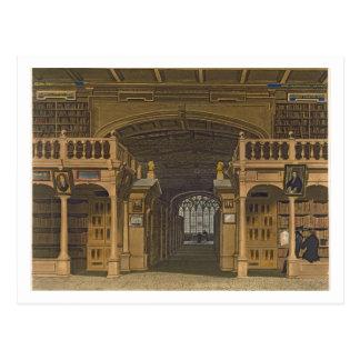 Binnenland van de Bodleian Bibliotheek, Briefkaart