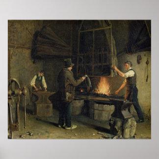 Binnenland van Forge, 1837 Poster