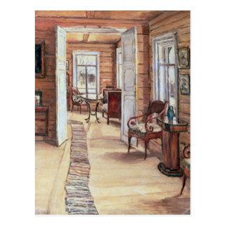 Binnenland van het huis van L. Panteleev's in Briefkaart