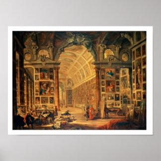 Binnenlands Uitzicht van de Colonna Galerij, Rome  Poster