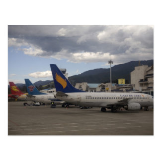 Binnenlandse Chinese straallijnvliegtuigen worden Briefkaart
