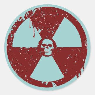 BioHazard Ronde Stickers
