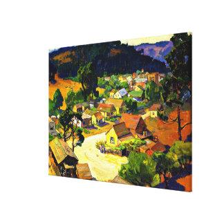 Bischoff - Cambria, een Vreedzaam Dorp van Canvas Afdruk