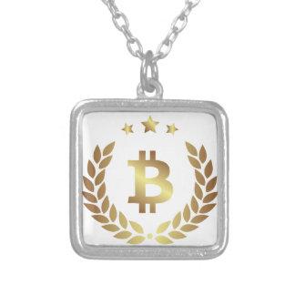 Bitcoin 12 zilver vergulden ketting