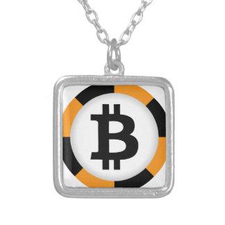 Bitcoin 13 zilver vergulden ketting