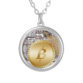 Bitcoin 18 zilver vergulden ketting