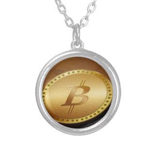 Bitcoin 2 zilver vergulden ketting