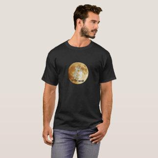 Bitcoin aan de Zwarte T-shirt van de Maan