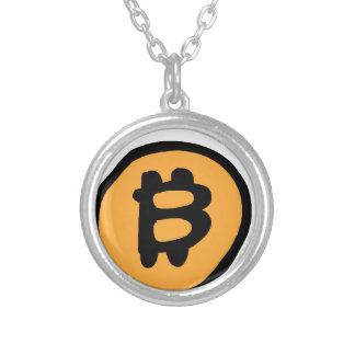 bitcoin collectie zilver vergulden ketting