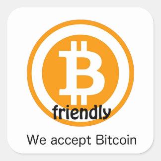 Bitcoin Toegelaten Sticker