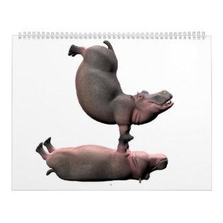 Bizarre Hippos Kalender