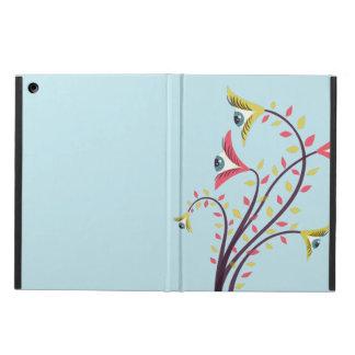 Bizarre Kleurrijke Bloemen met het Staren van Ogen iPad Air Hoesje