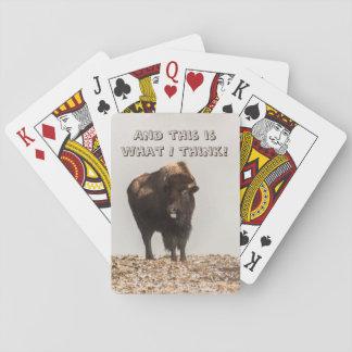 Bizon die Zijn Tong plakt uit - Grappige Humor - Pokerkaarten
