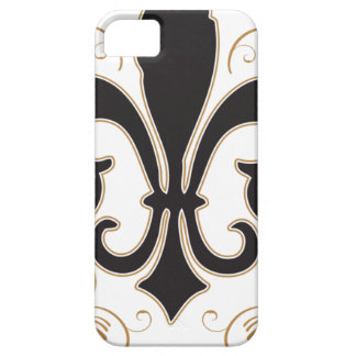 black_gold Fleur Barely There iPhone 5 Hoesje