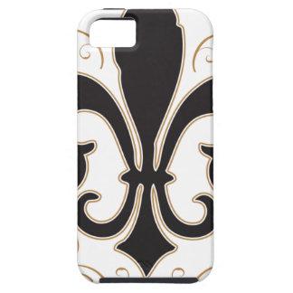 black_gold Fleur Tough iPhone 5 Hoesje
