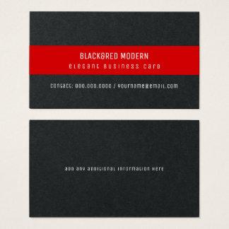 black&red streep moderne elegante pro visitekaartjes