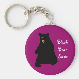 blackbear, BlackBear Susie Basic Ronde Button Sleutelhanger