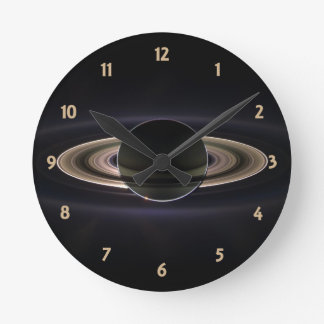 Blacklit Saturn Ronde Klok