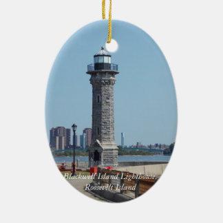 Blackwell is. Het licht, Roosevelt is. NYC Keramisch Ovaal Ornament