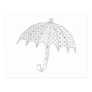blackwork paraplu briefkaart