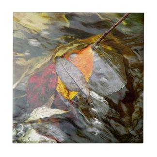 Bladeren in Water Keramisch Tegeltje