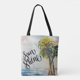 Bladeren van de Palmen van de waterverf de Draagtas