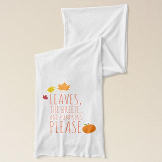Bladeren, wind, en pompoenenJersey sjaal American Apparel Sjaal