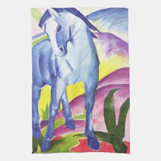 Blaues Pferd I door de Handdoek van de Keuken van