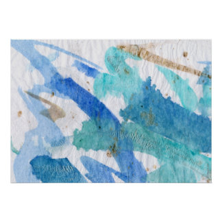 Blauw 008 het Geweven Document van de Abstracte Poster
