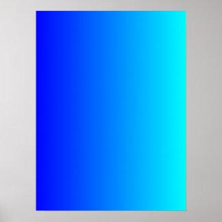 Blauw aan Gradiënt Aqua Poster