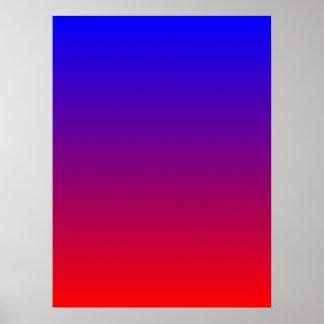 Blauw aan Rode Gradiënt Poster