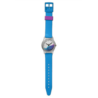Blauw abstract geometrisch vormenMay28th Horloge