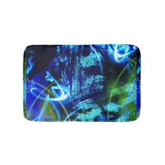 Blauw Abstract Patroon Badmat
