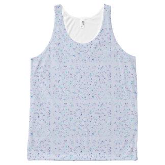 Blauw artsy ontwerp All-Over-Print tank top