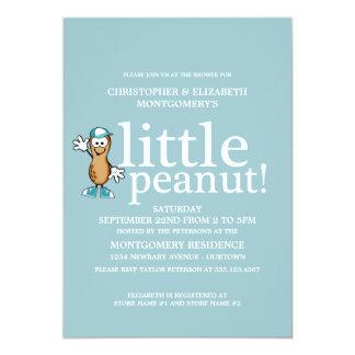 Blauw) Baby shower weinig van de Pinda ( 12,7x17,8 Uitnodiging Kaart