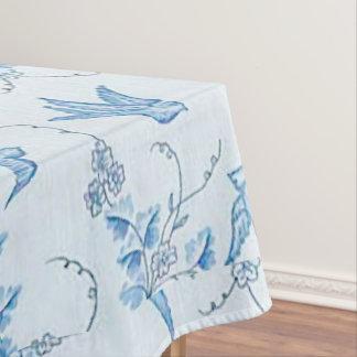 Blauw Boerenzwaluw Katoenen van de Vogel Tafelkleed